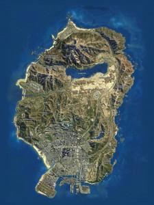 Спутниковая карта GTA 5