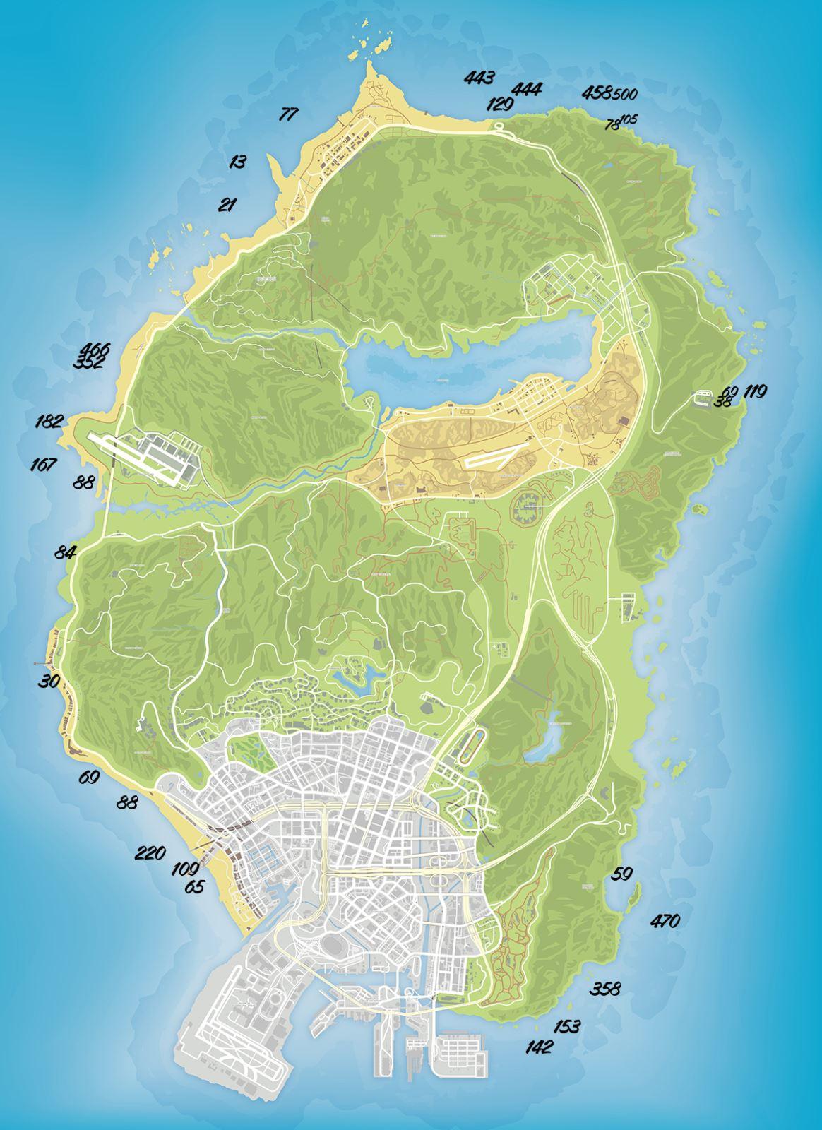 Карта радиоактивных отходов GTA 5