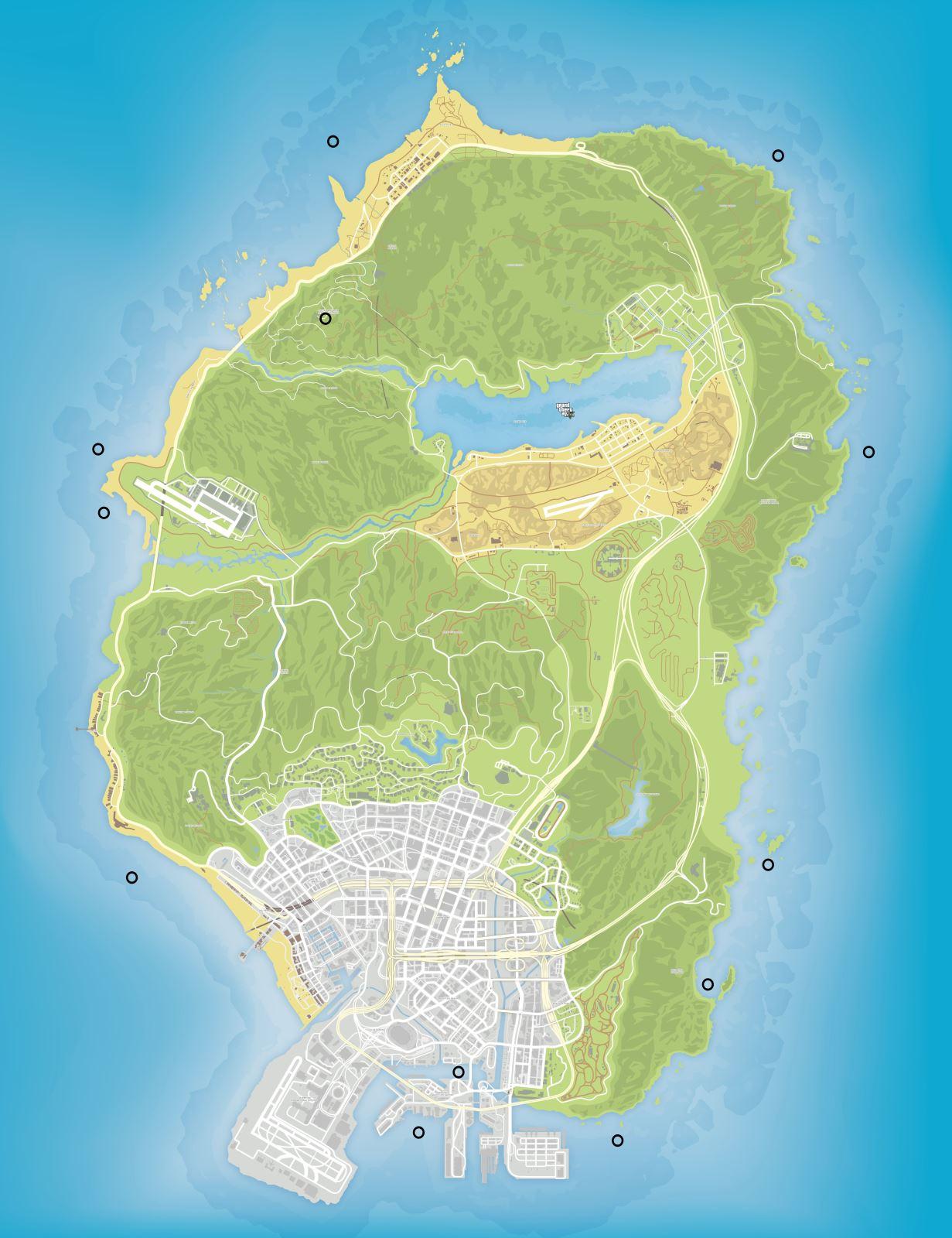 Спрятанные пакеты в GTA 5 на карте