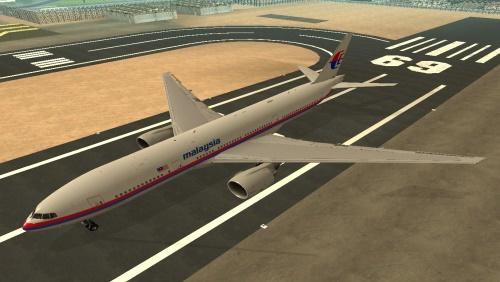Мод для GTA SA Boeing 777 Malaysia Airlines