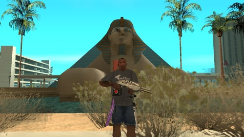 Мод GTA San Andreas Оружие за спиной
