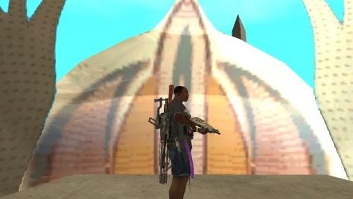 GTA SA Мод Оружие за спиной