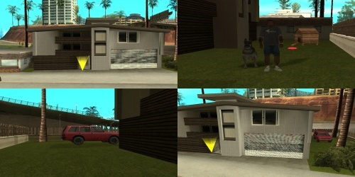 GTA San Andreas мод Новый дом на пляже Санта Мария