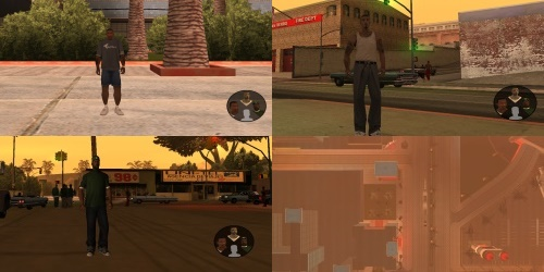Переключение персонажей из GTA 5 для GTA San Andreas