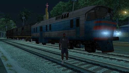 GTA San Andreas мод Поезд из Half-Life 2
