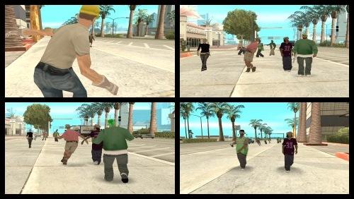 Все люди в GTA San Andreas Пьяные