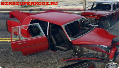 Реалистичное повреждение машин в ГТА 5