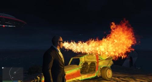 Дышать огнем в ГТА 5