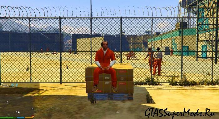 Стать заключенным в ГТА 5