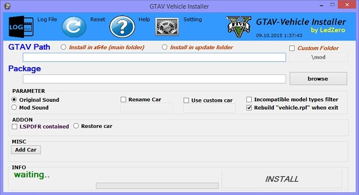 Программа Vehicle Mod Installer