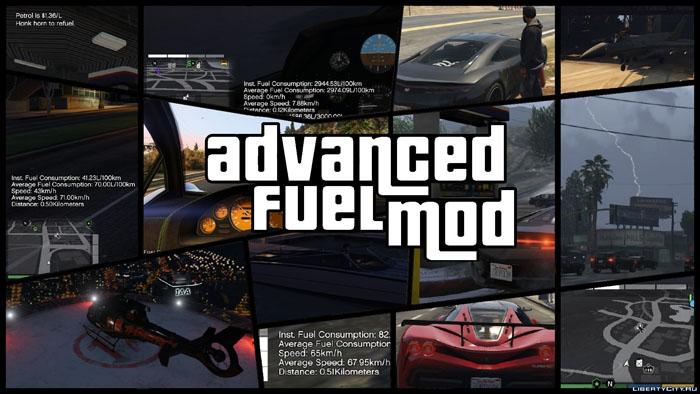 Мод на бензин для GTA 5