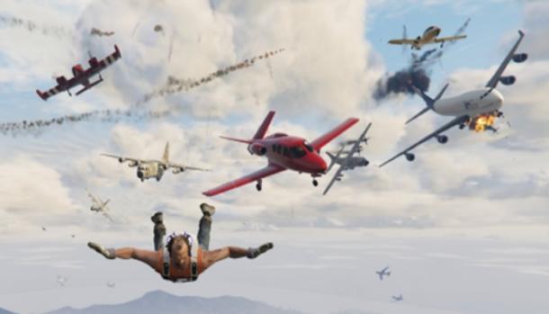 Падающие самолёты в ГТА 5