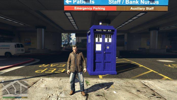 Полицейская будка из доктора кто для гта 5