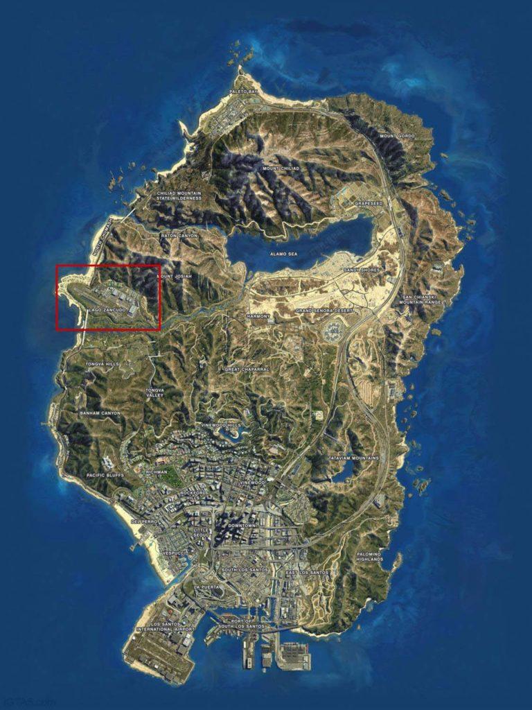 Военная база в GTA 5 на карте