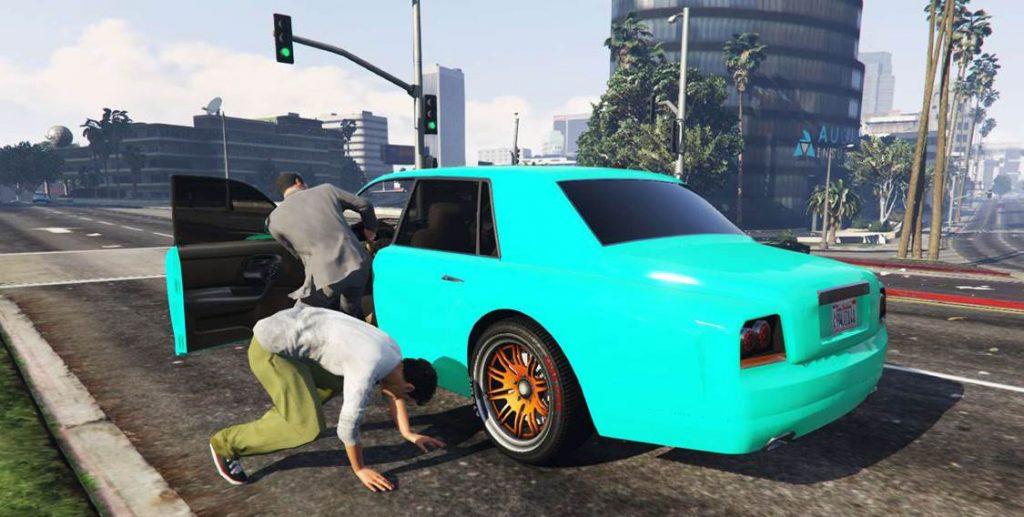 Кража автомобилей в онлайн игре ГТА 5