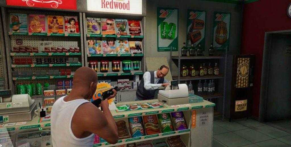 GTA 5 Onlie ограбление магазинов